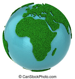 Globe of grass and water, Africa part