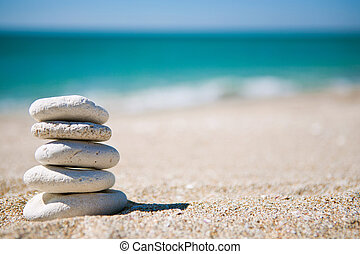 Stack of white stones