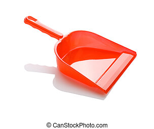 one red dustpan