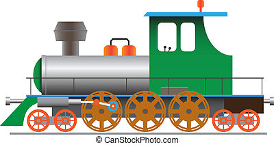 Steam locomotive - vector eps8 - Stylized steam locomotive -...