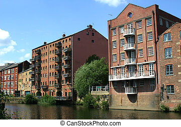 Canal Warehouses - A canal side warehouse in Leeds, England