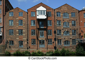 Leeds Warehouse - A canal side warehouse in Leeds, England