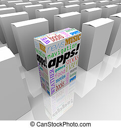 Many Boxes of Apps - Application Software Marketplace Store