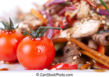 Tasty appetizer of meat