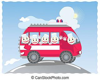 Funny ambulance