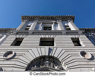 Looking up at the United States Court of Appeals, Ninth...