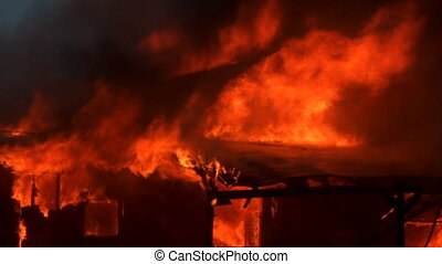Burning House 7 - House burns to ground in segments