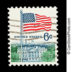 White House - Mail stamp printed the USA featuring the White...