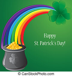 Background with clovers for StPatrick`s day, vector...