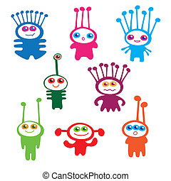 aliens - children's collection of funny aliens