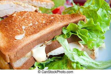 Sandwich with bacon