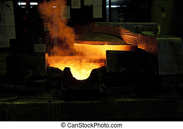Die casting in factory