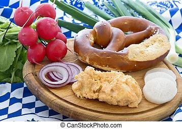 Bavarian Cheese Spead with Pretzel