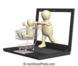 Virtual shopping - Conceptual image - virtual family...