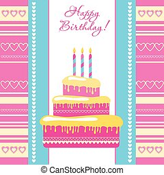 happy-birthday-card - template - greeting card on birthday