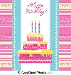 happy-birthday-card - template - greeting card on birthday