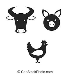 icon-meat - a set of icons representing different kinds of...