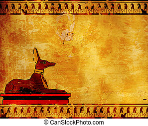 Anubis - Background with Egyptian god Anubis image
