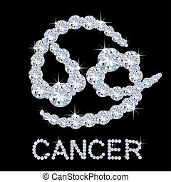 Diamond Zodiac Cancer