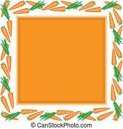 orange frame of carrots