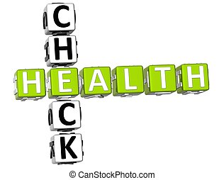 Check Health Crossword - 3D Check Health Crossword on white...