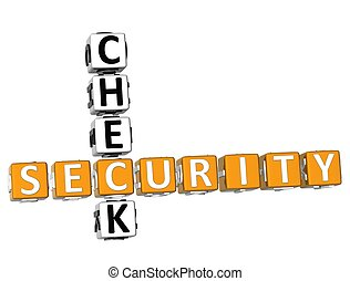 Security Check Crossword - 3D Security Check Crossword on...