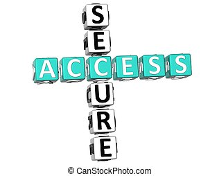 Secure Access Crossword - 3D Secure Access Crossword on...