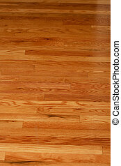 Polished Hardwood Flooring - A highly polished hardwood...
