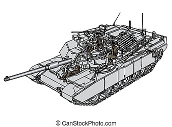 Tank Abrams M1 - Detailed vector illustration of tank Abrams...