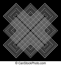 Vector geometric illusions - Abstract design with geometric...