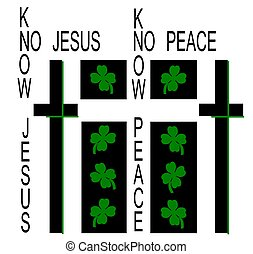 irish jesus - st patrick's day greeting - of a different...