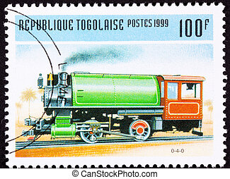 Canceled Togo Train Postage Stamp Vintage Railroad Steam...