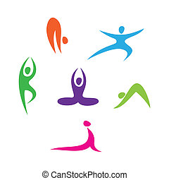 icons-yoga - set of icons - Yoga