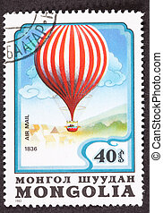 Mongolian Charles Green Royal-Vauxhall 1836 Balloon Air Mail Pos