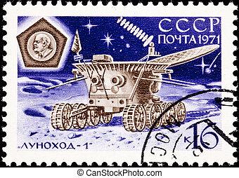 1, 17, Transmitir, lunokhod, tierra, luna, espalda,...