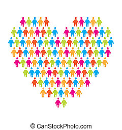 love-people - sign of love - the heart of uniting people