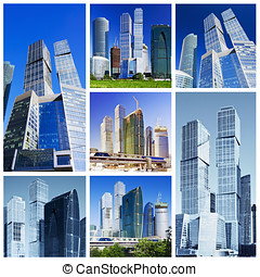 collage of skyscrapers - collage composed of images of...