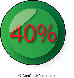 discount button - 40 discount button