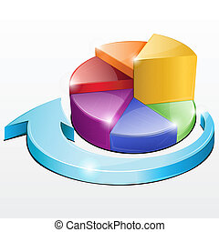 Pie Chart - illustration of pie chart on isolated background