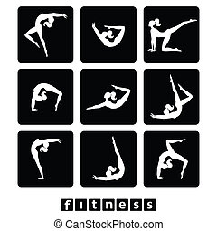 set-icons-fitness - set of icons - fitness