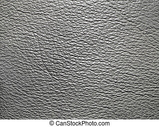 Grey leather texture - Close-up of grey leather texture