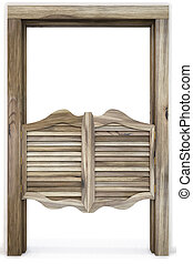 saloon - Old Western Swinging Saloon Doors. isolated on...