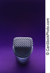 studio microphone - Studio microphone on a violet background