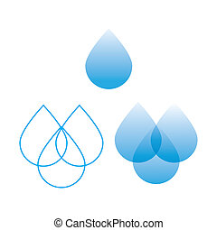 water-drop - options for the sign of water - a drop