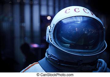 iscrizione, 8, spazio, foto, -, museo, URSS, mosca, 8:,...