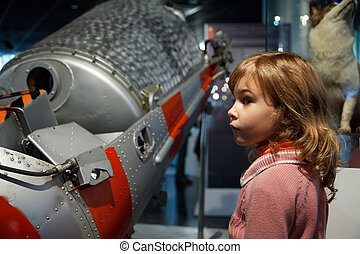 MOSCOW, RUSSIA - NOVEMBER 8: In an astronautics museum...