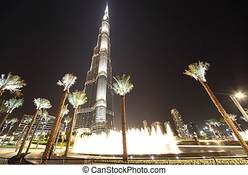 DUBAI - APRIL 18: Burj Khalifa (Burj Dubai) skyscraper is...
