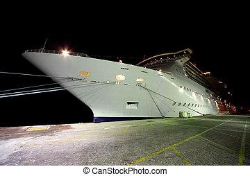 DUBAI - APRIL 19: cruise liner in Port Rashid on April 19,...