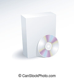 Blank box and dvd , cd , disc