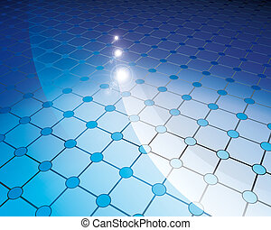 floor tiles blue circles - illustration 3d, floor tiles blue...
